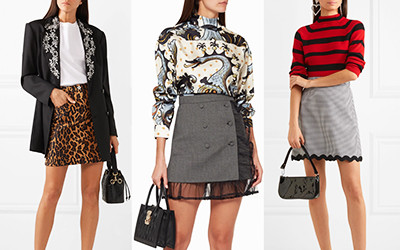 12 модных образов на осень в мини-юбках бренда Miu Miu