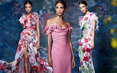 Красивые вечерние платья Marchesa весна-лето 2021