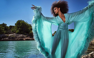 Imaan Hammam на страницах журнала Vogue Japan