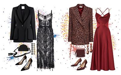 Что надеть на новый год 2021? Вечерние платья с жакетами в модных сетах