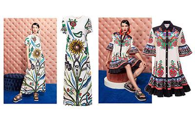 Платья из шелка и вискозы из коллекции La DoubleJ Resort 2021