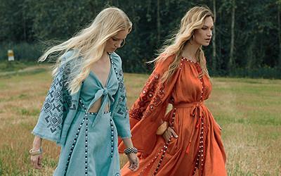 Красивые платья вышиванки на лето из коллекции My Sleeping Gypsy