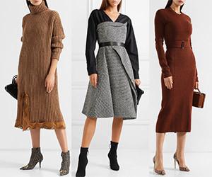 Выбираем модное шерстяное платье