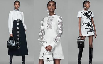 Красивые черно-белые платья и юбки Andrew Gn весна-лето 2021