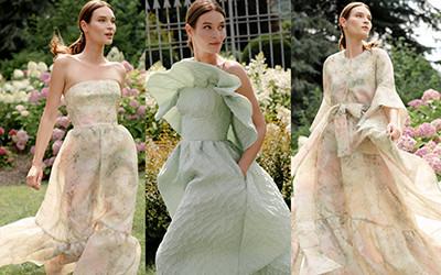 Роскошная женская одежда Monique Lhuillier весна-лето 2022