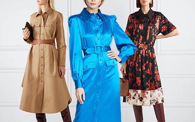 Выбираем модные платья-рубашки в 2020 году