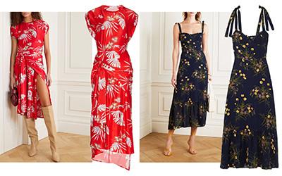 10 платьев из вискозы в цветочный принт на летний сезон 2020