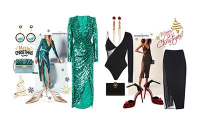 Идеи для новогодних вечерних образов в модных сетах