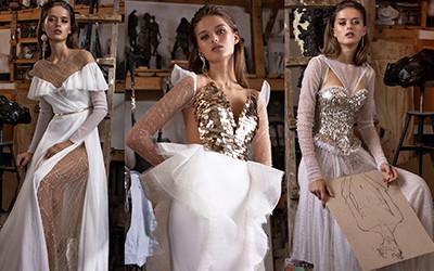 Красивые блестящие свадебные платья из коллекции Rara Avis 2020