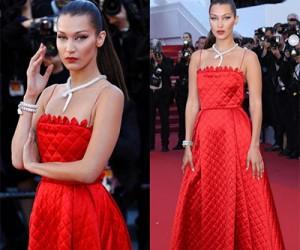 Белла Хадид (Bella Hadid) в вечерних платьях от Christian Dior