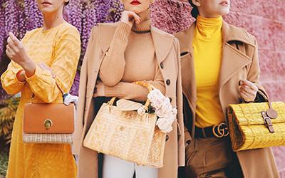 Самые женственные образы с плетёной сумкой от модницы Veronica Popoiacu