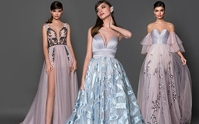 Длинные вечерние платья на выпускной Crystal Design 2019