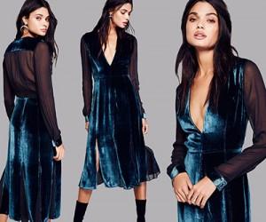 5 бархатных платьев для новогодних праздников