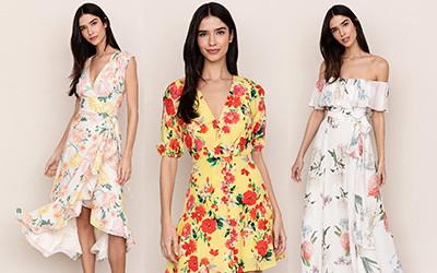 15 платьев в цветочный принт на весну Yumi Kim 2019