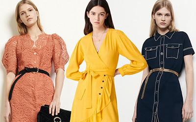 Короткие весенние платья 2020 из коллекций Sandro и Maje