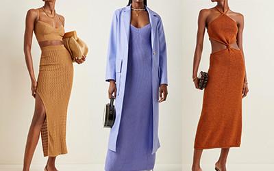 Модные трикотажные платья и стильные комплекты