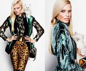 Lara Stone на страницах Vogue UK