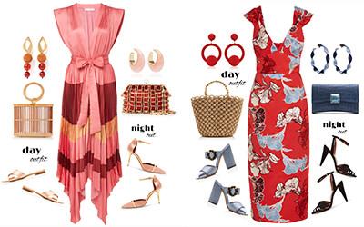 Повседневные и вечерние образы с платьями в модных сетах