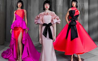 Эффектные и роскошные вечерние платья Mark Bumgarner осень-зима 2019-2020
