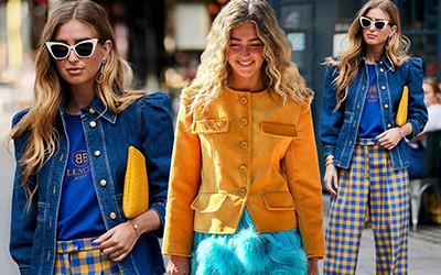 Сочетаем яркие цвета в одежде вместе с модницей Emili Sindlev