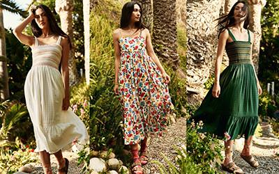 Винтажные летние платья The Great 2021