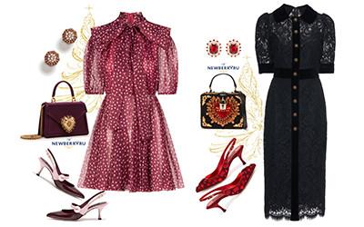 Новогодние образы в стиле Dolce & Gabbana в модных сетах