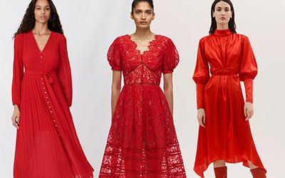 Эффектные красные платья для праздничных вечеринок 2020