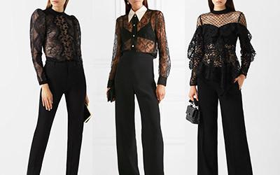 Выбираем черную полупрозрачную блузу