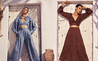 Пляжная женская одежда из хлопка и льна Three Graces London весна 2021