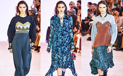 Женская одежда Chloé осень-зима 2019-2020