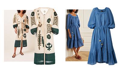 15 красивых льняных платьев на летний сезон 2020
