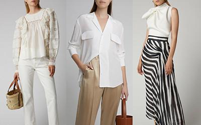 Красивые летние образы с белой блузой