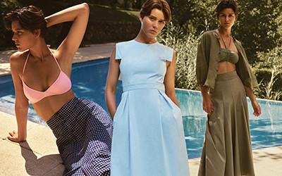 Пляжная женская одежда из хлопка и льна Three Graces London 2020