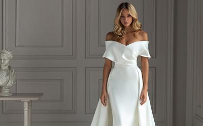 Коллекция свадебных платьев Less is More 2021 от Eva Lendel