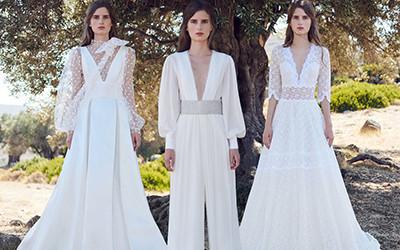 10 свадебных платьев и костюмов Costarellos осень-зима 2020-2021