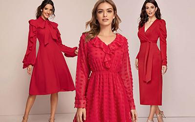 10 красных платьев с длинным рукавом ко дню Святого Валентина не дороже 25$