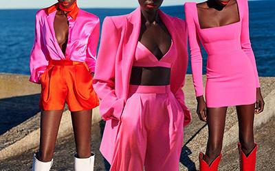 Ярко-розовое вдохновение образами из коллекции Alex Perry 2021