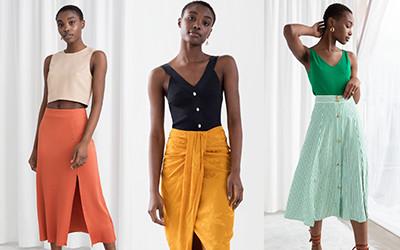 20 летних образов в юбках и шортах от бренда & Other Stories