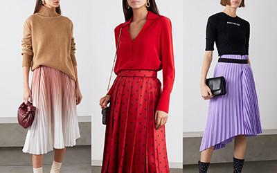 Выбираем с чем носить модную юбку плиссе 2020