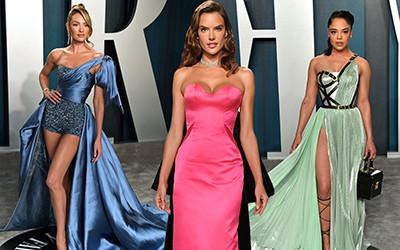 Самые красивые вечерние платья знаменитостей с вечеринки Vanity Fair Oscar Party 2020