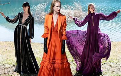 Красивые вечерние платья Costarellos осень-зима 2020-2021