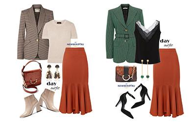 6 образов на осень с юбкой Johanna Ortiz в модных сетах