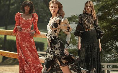 Красивая женская одежда из коллекции Andres Otalora осень-зима 2020-2021