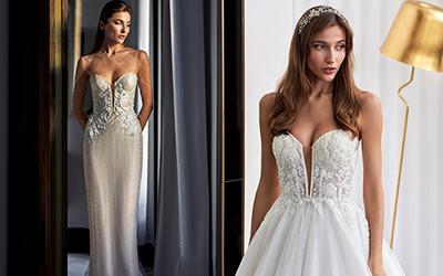 Свадебные платья с красиво расшитым корсетом 2020