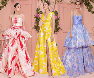Красивые вечерние платья Mark Bumgarner весна-лето 2019