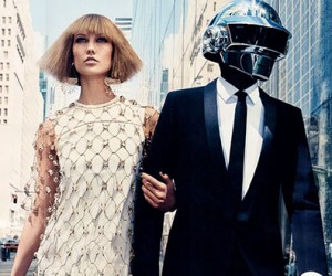 Karlie Kloss & Daft Punk для журнала Vogue US