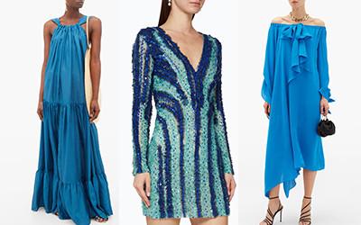 Роскошные летние платья в лазурном цвете