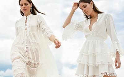 Белая пляжная женская одежда Waimari Resort 2021