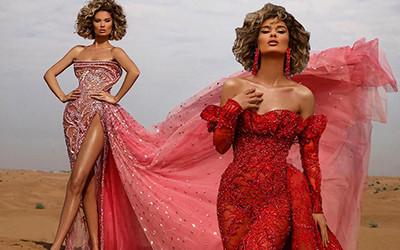 Роскошные платья среди пустыни от дизайнера Albina Dyla