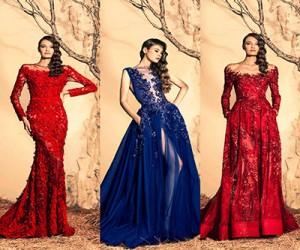 Вечерние платья Ziad Nakad Haute Couture осень-зима 2014-2015